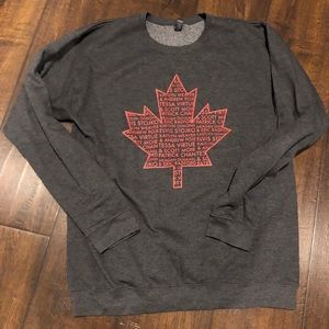 Other - Thank you Canada tour gray sweatshirt size medium